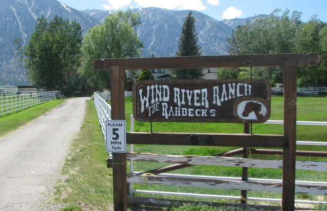 "Pat's ""Wind River Ranch"" - land that Pat say's she'll never sell to developers."
